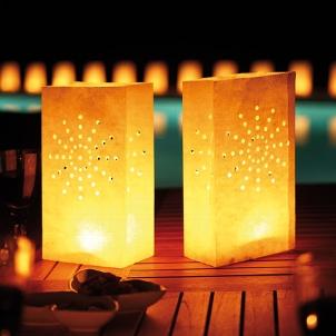 Wasserlichter für die Hochzeitsfeier