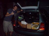Unser Auto ist voll!