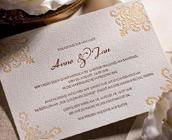 Edle Letterpress Hochzeitskarten