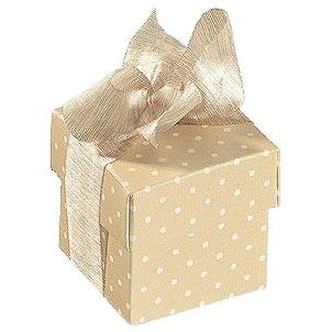 Geschenkschachtel - Würfel Caramel